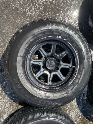 "16"" XD Black Alloy wheels with tires set of 4 for Sale in Portland, OR"