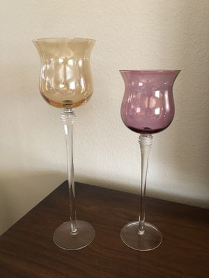 Iridescent Amber and Violet Goblets (Ahwatukee) for Sale in Phoenix, AZ