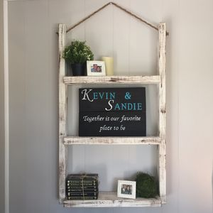 Rustic solid wood rope hanging shelves for Sale in Odessa, FL