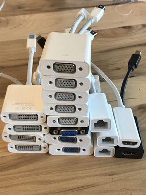 Lot of 17 Apple MacBook Pro display accessories hdmi Ethernet dvi vga for Sale in Santa Clara, CA