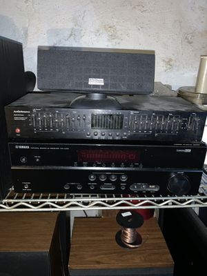 Equalizer, Yamaha receiver, Sony subwoofer for Sale in Philadelphia, PA