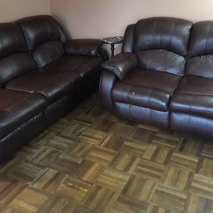 2 Faux Leather Recliner Sofas for Sale in Arlington, VA