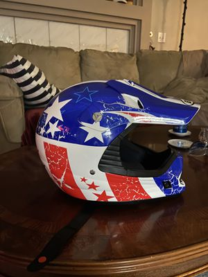 American flag dirt bike helmet, medium for Sale in Spokane, WA