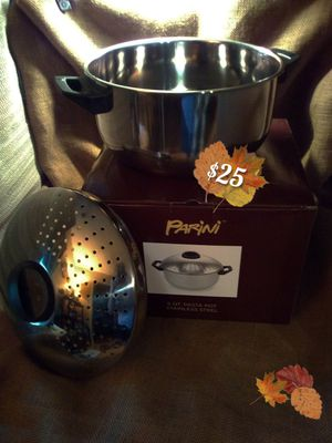 Parini 6qt. Pasta pot stainless steel for Sale in Joplin, MO