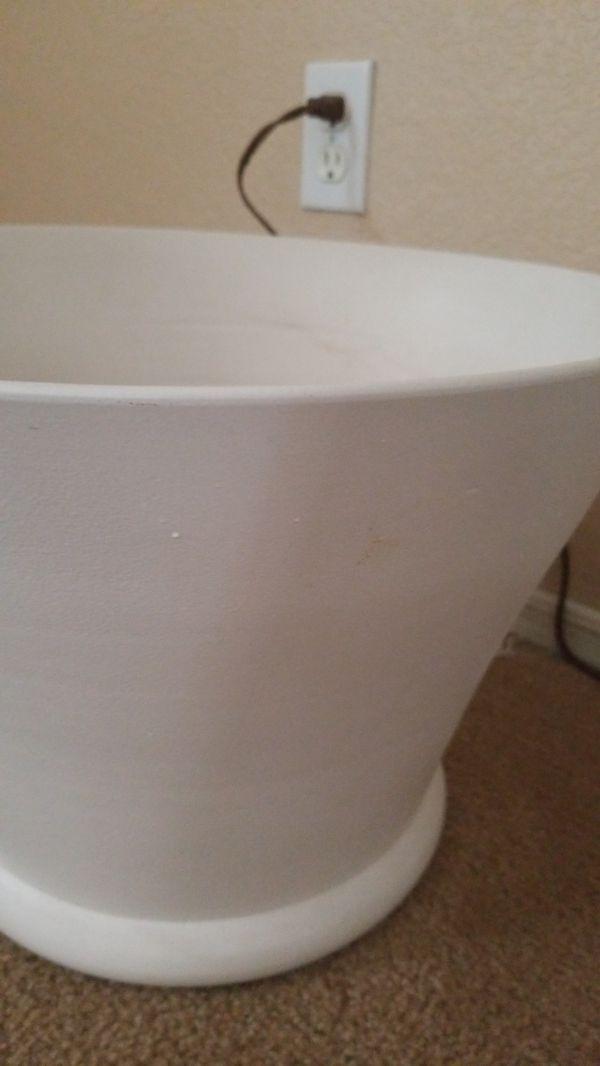 Extra large white ceramic pot
