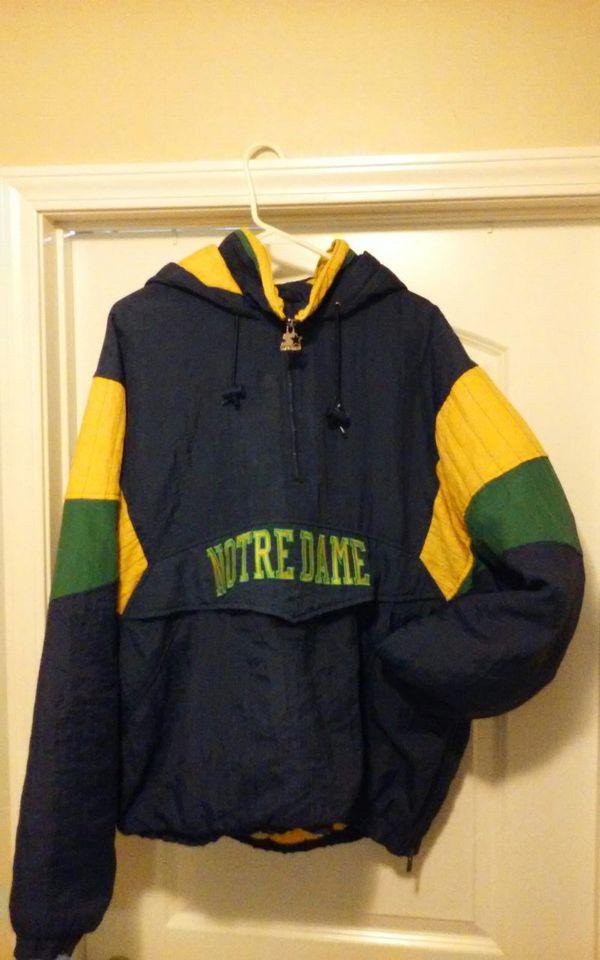Notre Dame Starter pullover jacket vintage XL