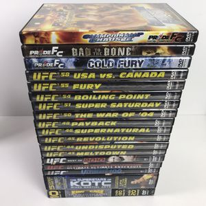 (18) UFC/MMA Mixed Martial Arts DVD Lot for Sale in San Diego, CA