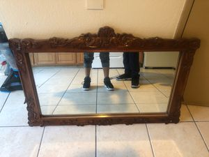 Reall wood framed mirror for Sale in Stockton, CA