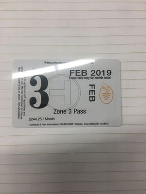 Zone 3 Charlie pass FEB 2019 ($100) for Sale in Boston, MA