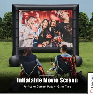 14FT Inflatable Movie Screen Projection Portable Outdoor Home Theater W/Blower for Sale in Montebello, CA