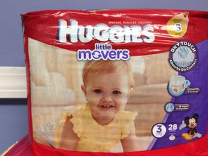 Huggies Little Movers size 3 for Sale in Bloomfield, CT