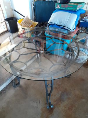 Kitchen or patio glass table only no chips. for Sale in Phoenix, AZ
