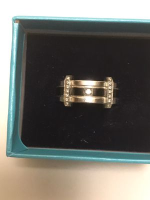 Ring Cz Solid Stainless & Black Stone Sz11 for Sale in Seattle, WA