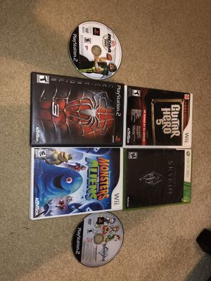 6 video games PlayStation 2, Nintendo Wii, Xbox 360! for Sale in Little Elm, TX