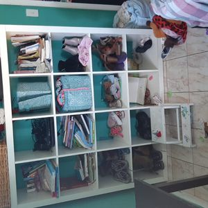 Big White Wooden shelving Unit for Sale in Hialeah, FL