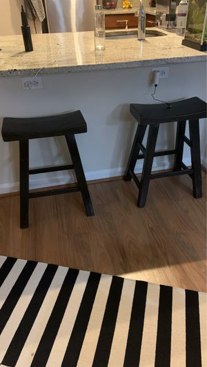 Distressed mandarin stools set of 2 - Arhaus for Sale in Rockville, MD