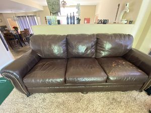 3 Piece leather living room set for Sale in Brighton, CO