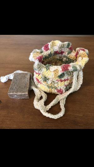 Handmade Vegan Soap w Crochet Soapsaver for Sale in Cypress, CA