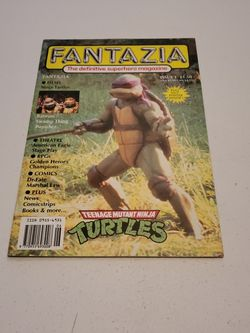 Fantazia Magazine #1 Featuring Teenage Mutant Ninja Turtles Movie, With Pullout Poster Intact, Also Swamp Thing, Punisher, Batman, Movie Reviews for Sale in Fresno,  CA