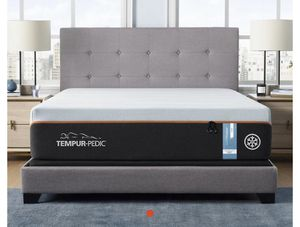 Cal King Bamboo Temperpedic Mattress and Bed Frame for Sale in Huntington Beach, CA