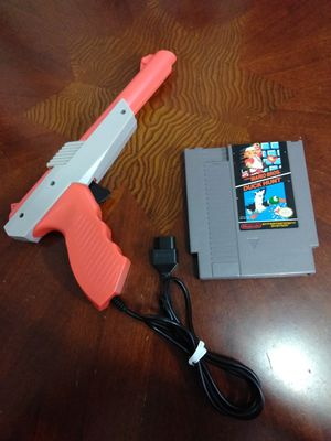 Super Mario Bros Duck Hunt Orange Light Zapper Gun NES Nintendo Entertainment System Video Game 80s Vintage Retro Classic Cartridge Cassette for Sale in El Cajon, CA