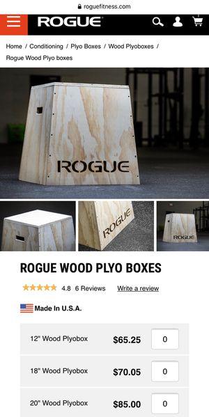 "Rogue Fitness   20"" Wood Plyobox   CrossFit for Sale in Oak Ridge, NC"
