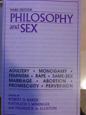 Philosophy & Sex, 3rd Edition. for Sale in Lino Lakes, MN