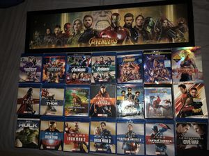 Marvel Movies Blue Ray Collection for Sale in San Antonio, TX