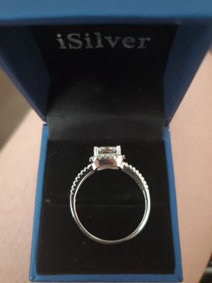 100% sterling silver cubiz zirconia size 11 ring for Sale in Meriden, CT