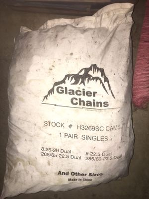 Glacier Tire Chains (Snow chains) for Sale in Chino Hills, CA