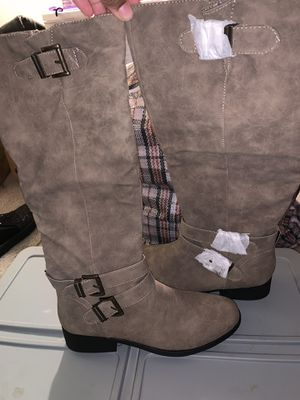Women Taupe Nubuck Fall Riding Boots- Sz 10 Brand New for Sale in Clinton Township, MI