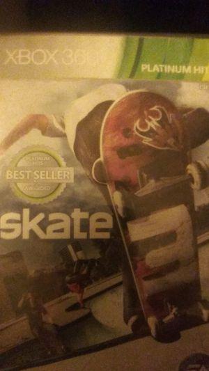 XBOX 360 Skate Skate 3 for Sale in Wichita, KS