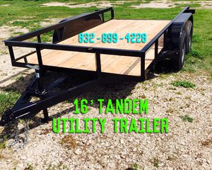 TRAILERS FOR SALE 💰 16' Utility Trailer for Sale in Houston, TX