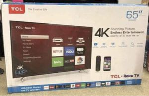 """65"""" TCL Roku Smart 4K UHD LED TV for Sale in Bloomington, CA"""
