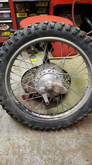 Motorcycle Dirt Bike Rear Tire Wheel Assembly for Sale in Cary, IL