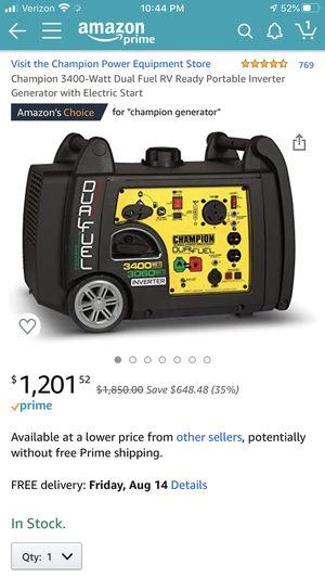 Champion 3400 watt daul fuel generator askin 1075 for Sale in Meriden, CT