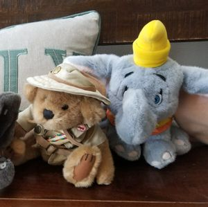 Safari Bear and Dumbo Elephant Stuffed Animals for Sale in Holly Springs, NC