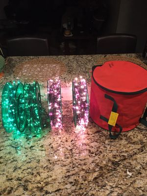 Holiday lights with bag for Sale in Pompano Beach, FL