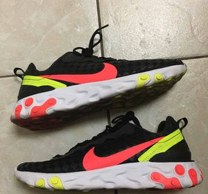 Worn Nike React Element 55 Checkered Crimson Volt Sz 11 for Sale in Rowland Heights, CA