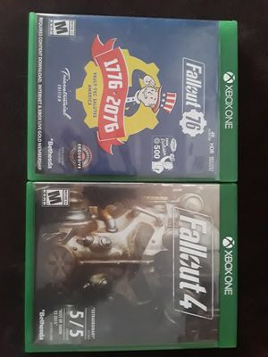 Fallout 76 and fallout 4 for xbox one for Sale in Somerset, MA