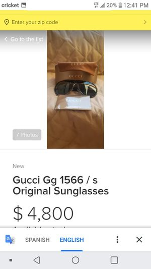 Gg 1566/s gucci sunglasses THESE ARE NOT REPLICAS OR FAKES 100% REAL for Sale in P C BEACH, FL