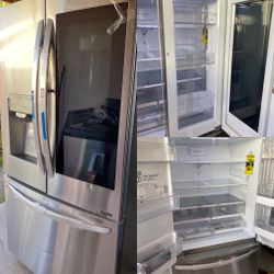 NEW OUT OF BOX LG KNOCK KNOCK INSTA VIEW STAINLESS STEEL REFRIGERATOR WITH DOUBLE ICE MAKER for Sale in Riverside,  CA
