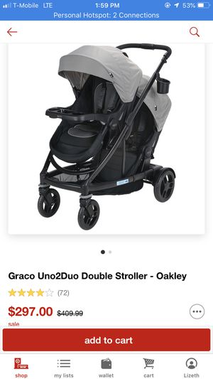 Graco Uno2Duo double stroller for Sale in East St. Louis, IL