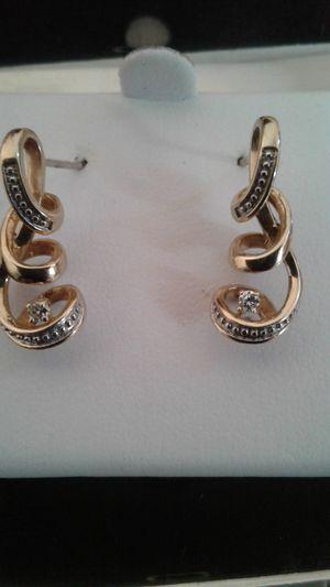 10K Diamond Earrings (Heavy!) for Sale in Las Vegas, NV