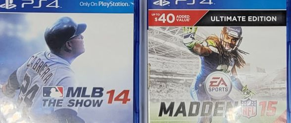 4 Ps4 EA,MLB,UFC Sports Game Bundle! for Sale in Orlando,  FL