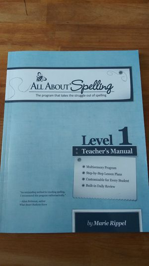 All About Spelling Teachers Manual for Sale in Puyallup, WA