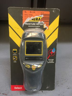 Professional Digital Pinless Moisture Meter with Backlit LCD 9 Volt battery for Sale in Mesa, AZ