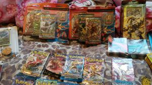 Pokemon Collection with pikachu,charizard and jigglypuff 23kt gold plated card's for Sale in Chicago, IL