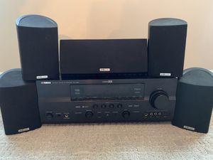 Yamaha Home Theater System & Polk Speakers for Sale in Arlington, VA