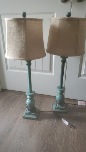 2 teal night stand lamps for Sale in Virginia Beach, VA
